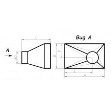 Переход прямоугольное сечение на круглое сечение (с нестандартным смещением, тип 6)