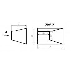 Переход прямоугольное сечение на прямоугольное сечение (односторонний левый, тип 5)