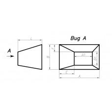 Переход прямоугольное сечение на прямоугольное сечение (с нестандартным смещением, тип 6)