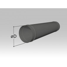 Воздуховод круглый прямошовный (длина не более 1250 мм)