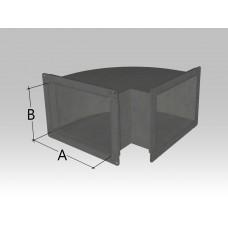 Отвод прямоугольного сечения (уголком)