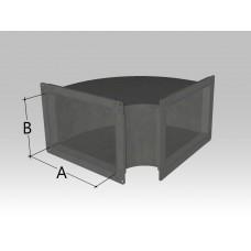 Отвод прямоугольного сечения (радиус)