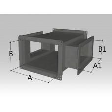 Крестовина прямоугольного сечения с прямоугольными врезками
