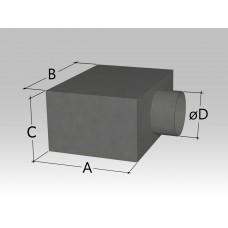 Пленум под решетку с боковой круглой врезкой