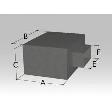 Пленум под решетку с боковой прямоугольной врезкой
