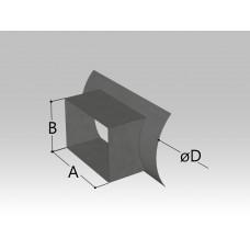 Врезка прямоугольная в круглый воздуховод