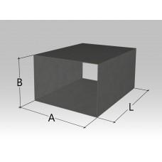 Воздуховод прямоугольного сечения (без фланцев)